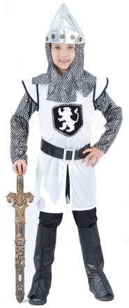 Medeltida riddare - utklädnad barn 104 - 116 cm (4 - 6 år)
