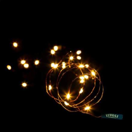 Tivoli Thin Lyskjede, 100 LED, 10 meter, Kobber