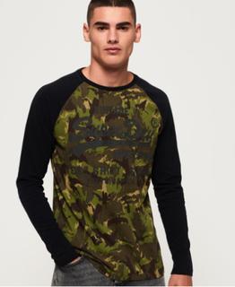 Superdry Langærmet Shirt Shop T-shirt med camo-design