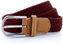 Braid Stretch Belt Burgundy