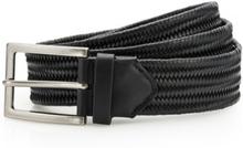 Leather Braid Belt Black