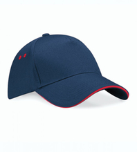 Ultimate 5 Panel Cap French Navy/Classic Red