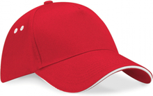 Ultimate 5 Panel Cap Classic Red/White