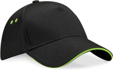 Ultimate 5 Panel Cap Black/Lime green