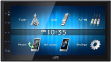 KW-M24BT - digital receiver - display 6.8 in - in-dash unit - Double-DIN - LCD display LCD display