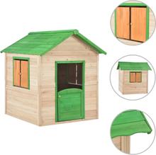 vidaXL Lekstuga för barn trä grön