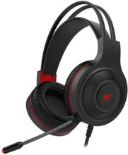 Havit stereo gaming headset, svart/röd