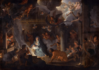 Adoration of the Shepherds,Charles Le Brun,60x40cm