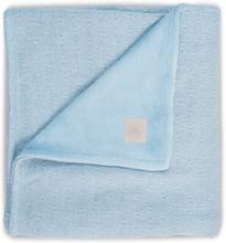 jollein Neulottu viltti Nalle pehmeä sininen 100x150cm
