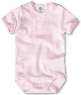 Sanetta Pige baby body, smalstribet rosa - rosa/pink - Gr.56 - Pige