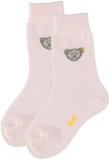 Steiff Pige mini sokker, Teddybjørn, rosé - rosa/pink - Gr.98 - Pige