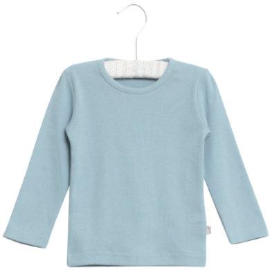 WHEAT Basic Boys Shirt ashleyl blue - blå - Gr.fra 6 mdr. - Dreng - pinkorblue