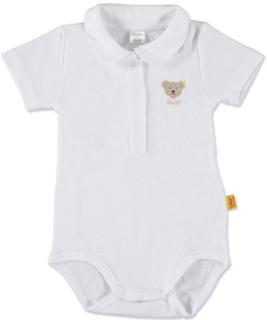 Steiff Pige baby-body, kortærmet, lys hvid - Pige