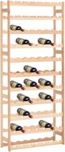 vidaXL Vinställ för 77 flaskor FSC furu