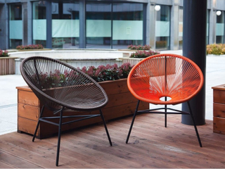 Trädgårdsstol konstrotting orange ACAPULCO