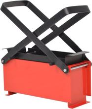 vidaXL Brikettpress i stål för papper 34x14x14 cm svart och röd