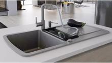 vidaXL køkkenvask dobbelt vask granit grå