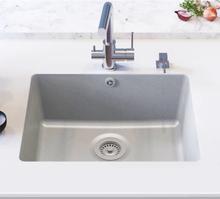 vidaXL køkkenvask enkelt vask granit grå