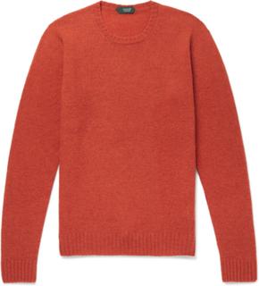 Brushed Virgin Wool Sweater - Orange