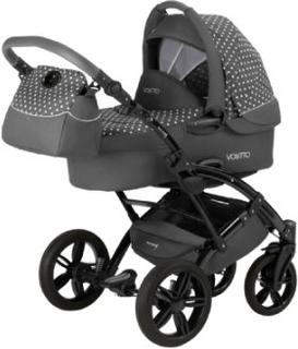 Knorr-Baby Kombibarnevogn Voletto 3in1 grå-hvid