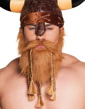 Vikingaskägg och Mustasch med Flätor