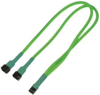 Kabel 3-Pin Y-Kabel 60 cm neon-grün