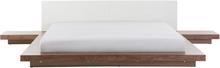 Sänky LED-valolla ruskea 180 x 200 cm ZEN