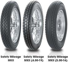 Avon AM7 Safety Mileage MK II ( 3.50-19 TL 57S Bakhjul )