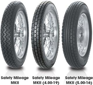 Avon AM7 Safety Mileage MK II ( 3.50-19 TT 57S bakhjul )