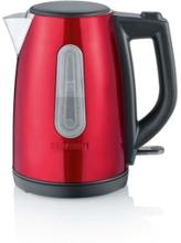 Severin Vattenkokare 1 l. 2200W röd metallic/svart