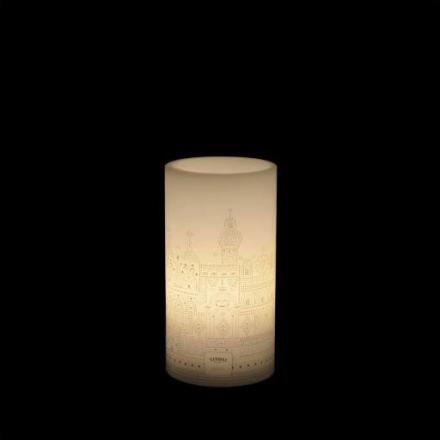 Tivoli LED Vokslys med Tivoli motiv, Small, Hvit
