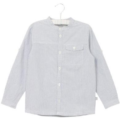 Wheat Shirt Axel deepocean - blå - Gr.fra 5 år - Dreng - pinkorblue
