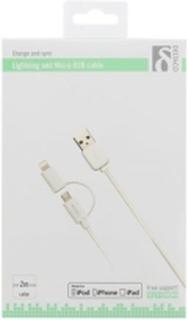 Kabel DELTACO USB Micro B/Lightning 2m