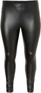 JUNAROSE Leather Look Leggings Kvinna Svart