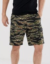 Obey Recon cargo short in tiger camo - Green
