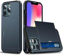 Hybrid Skal Med Kortplats Till Iphone 13 Pro Max - Blå