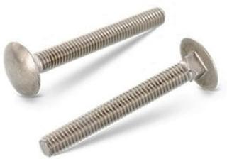 Låseskrue DIN 603 helgjenget, Syrefast A4, M10 - 10 x 65 mm - 50 stk.