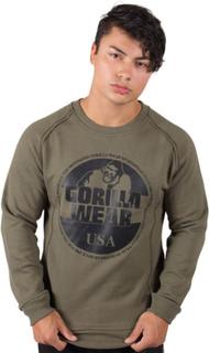 Gorilla Wear Men Bloomington Crewneck Sweatshirt, army green, xxxxlarge Sweatshirt herr