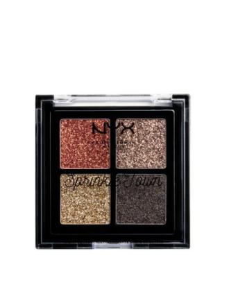 Øyenskygger - Metallic NYX Professional Makeup Sprinkle Town Cream Glitter Palette