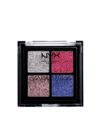 Øyenskygger - Pastelle NYX Professional Makeup Sprinkle Town Cream Glitter Palette