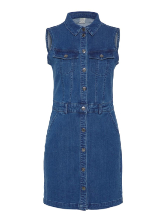 VERO MODA Sleeveless Denim Dress Women Blue