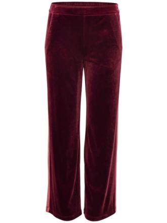 ONLY Velvet Trousers Women Brown