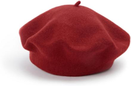Basker, 100% ren ny ull från Seeberger röd