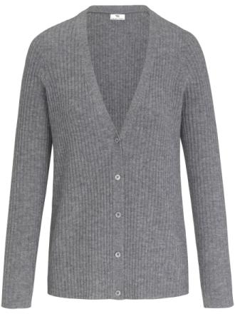 Kofta i 100% ny ull från Peter Hahn grå