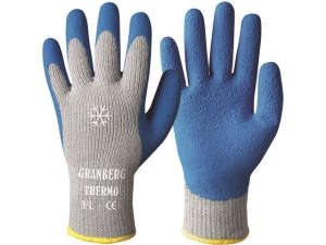 Hanske GRANBERG strikket m/latex 9 blå