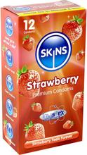 Skins Flavoured: Strawberry, Kondomer, 12-pack