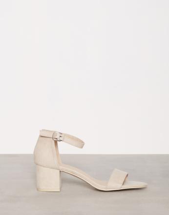 Low Heel - Beige NLY Shoes Low Block Heel Sandal