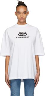 Balenciaga Off-White Oversized BB Balenciaga T-Shirt