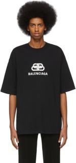 Balenciaga Black BB Balenciaga Regular Fit T-Shirt