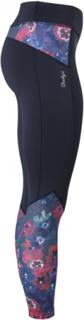 Pansy tights (Färg: Svart/blommig, Storlek: S)